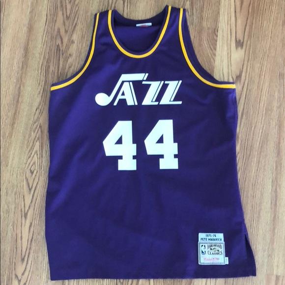 buy online 23d39 0c615 Pete Maravich UTAH JAZZ Throwback